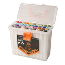 The Ultimate Dual-Tip Artist's Markers Set - 40 Colors
