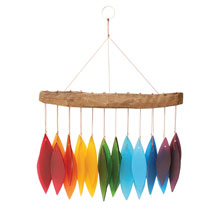 Over the Rainbow Glass Wind Chime