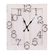 Oversized Wood and Wire Clock