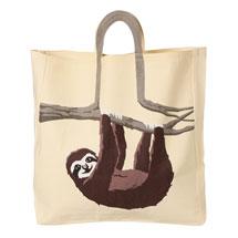 Sloth Tree Branch Cotton Canvas Tote