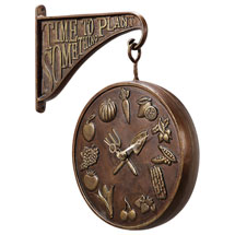 Time to Plant Something Garden Clock and Thermometer