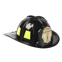 Personalized Jr. Firefighter Helmet, Black