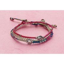 Hand and Heart Bracelets Set