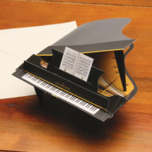 Baby Grand 3-D Piano Greeting Card
