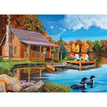 Loon Lake, A 500 Piece Jigsaw Puzzle