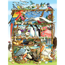 Birds of the World Family 400 piece Jigsaw Puzzle
