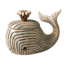 Ceramic Whale Jar