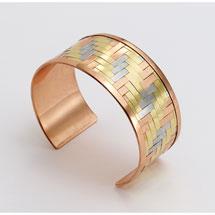 Woven Metals Cuff Bracelet