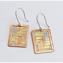 Woven Metals Cuff Earrings