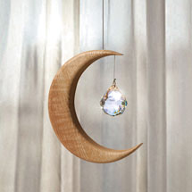 Oak and Crystal Moon Suncatcher