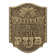 Personalized Welcome Pub Plaque
