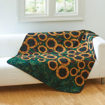 Sunflowers Microplush Fleece
