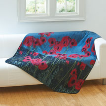 Poppies Microplush Fleece Throw