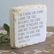 Jeremiah 29:11 Scripture Stone
