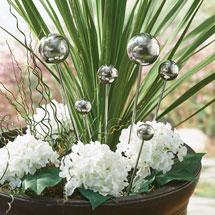 Stainless Steel Garden Sphere Set