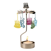 Happy Birthday Spinning Tea Light Holder