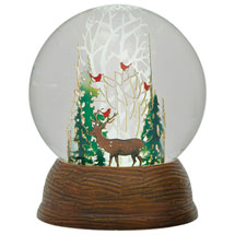 Winter Forest LED Snow Globe