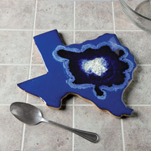 State Geode Ceramic and Glass Trivet
