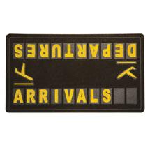 Departures and Arrivals Doormat