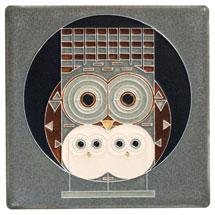 Charley Harper Family Owlbum Art Tile