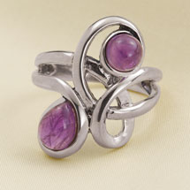 Amethyst Infinity Knot Ring