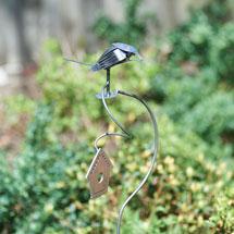 Flatware Bird Garden Stake