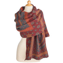 Pleated Desert Flower Scarf/Shawl