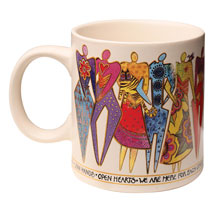 Laurel Burch Join Hands Mug