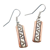 Navajo Copper and Silver Earrings