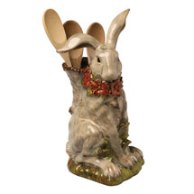 Porcelain Rabbit Utensil Holder