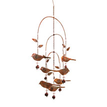 Birds and Bells Mobile Wind Chime