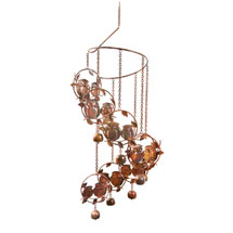 Owls and Bells Spiral Wind Chime