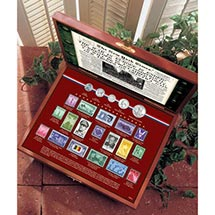 New York Times World War Ii Coin And Stamp Collection Boxed Set