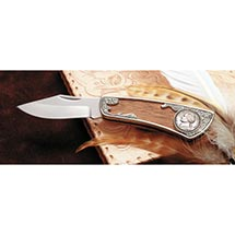 Jefferson Wartime Silver Nickel Pocket Knife