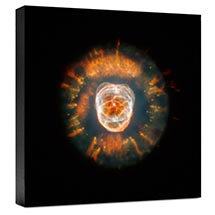Hubble Image Canvas Print: The Eskimo Nebula (Ngc 2392)