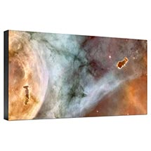 Hubble Image Canvas Print: Carina Nebula Details: The Caterpillar