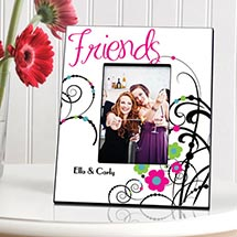 Personalized Cheerful Onyx Friendship Picture Frame