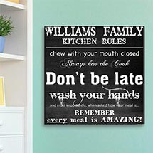 Family Kitchen Rules Canvas