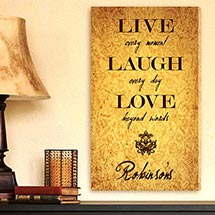 Live Every Moment Canvas Print