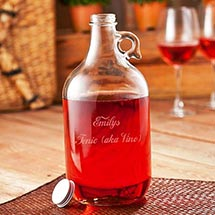 Personalized Wine Growler
