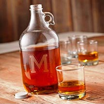 Personalized Whiskey Growler Decanter