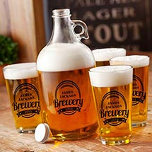 Brewery Growler Set-black ink