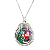 Happy Holidays Colorized JFK Half Dollar Spinner Pendant