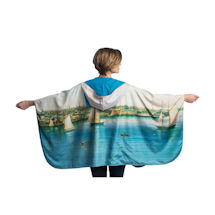 Nicholson Newport Harbor Reversible Rain Cape