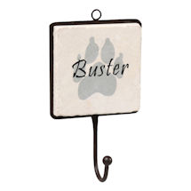 Personalized Dog Paw Print Wall Hook