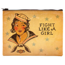 Fight Like a Girl - Zipper pouch