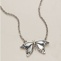 Silver Spoon Butterfly Necklaces