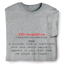 48f00817 Fabracadabra Definition - Funny Quilting/Crafting Shirts