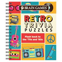 Retro Trivia Puzzles Brain Games Book