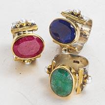 Big Gemstone Sterling Ring